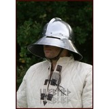 cappello di ferro con bordo e visiera