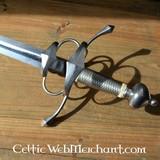 Side Espada con acero whire envoltura mano