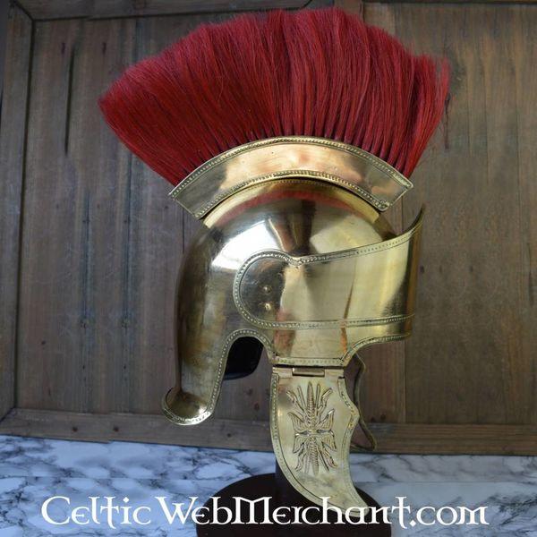 Attic helmet with crest, brass