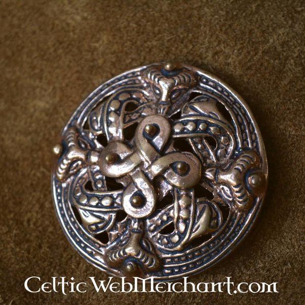 Bronze Viking brooch Borre style