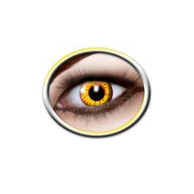Epic Armoury lentilles de contact de couleur jaune et rouge