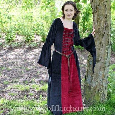 Vestido Aline rojo-negro