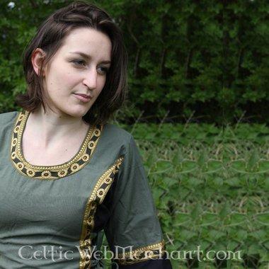 Jurk Cleena groen-zwart