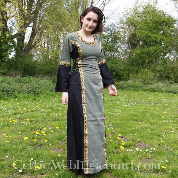 Dress Cleena green-black