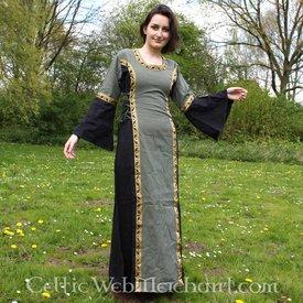 Vestido Cleena verde-negro