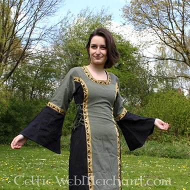 Robe Cleena, vert et noir