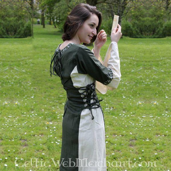 Vestido Cleena verde-blanco