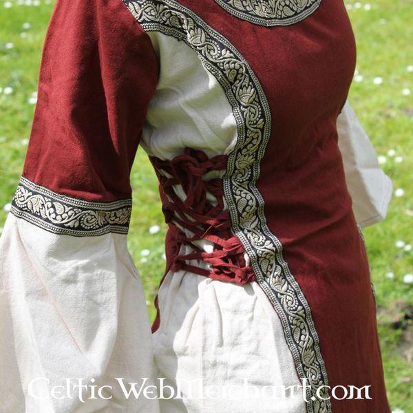 Robe Cleena, rouge et crème
