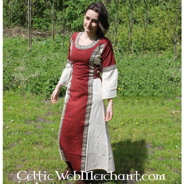 Vestito Cleena cream-rosso
