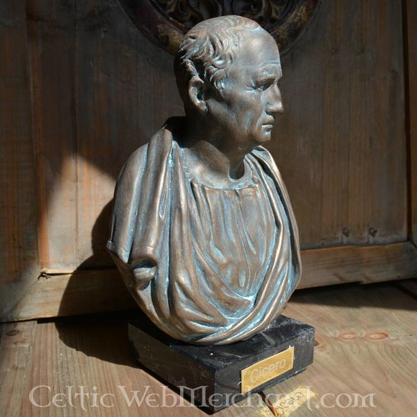 Bronzato busto Cicero