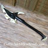 Scuro Elven martello da guerra, la schiuma, un'arma LARP