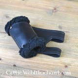 LARP Sword Holder, leather, with fur, left-handed