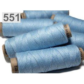 Fil de lin clair bleu 50m