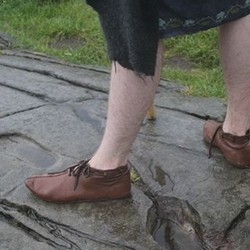 Early medieval shoes