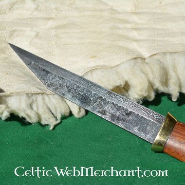 Germanic short seax of Damascus steel