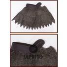 Colletin de maille dagué, anneaux plats mixtes-rivets triangle, 8mm