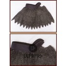 Colletain de maille dagué, anneaux plats - rivets ronds, 8 mm
