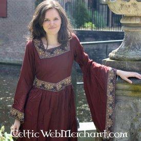 Kjole Anna Boleyn rød