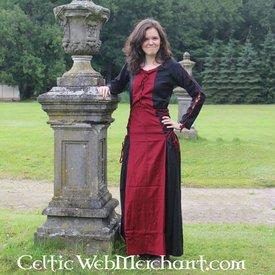 Kjole Med sort-rød