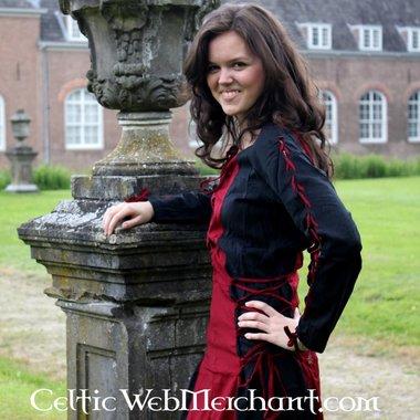 Dress Fea black-red