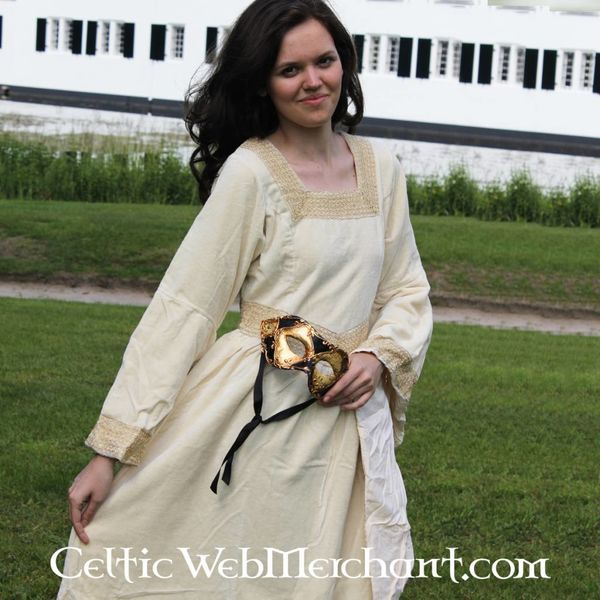 Robe Anna Boleyn, blanc