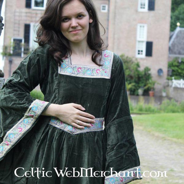 Vestido Anna Boleyn verde