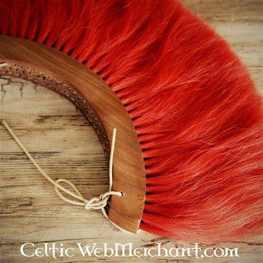 Romeinse helmkam, rood