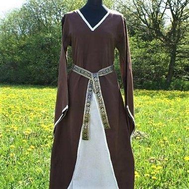 Dress Clara (brown-white)