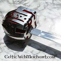 Deepeeka Epée Culloden Broadsword à garde en panier (Claymore)