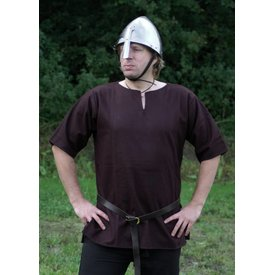 Ulfberth Viking tunic with short sleeves, brown