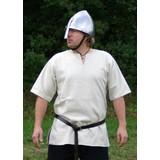 Viking tunic with short sleeves, white