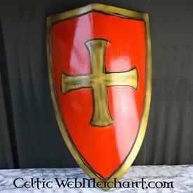 Epic Armoury LARP czerwona tarcza Templar