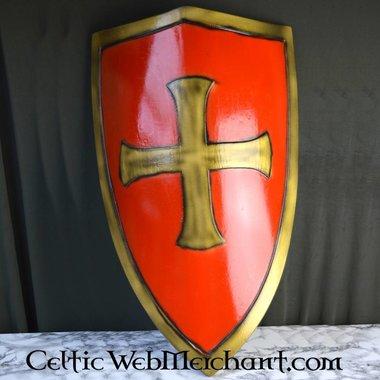 LARP escudo rojo de templario