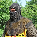 Coif with square visor, 8 mm