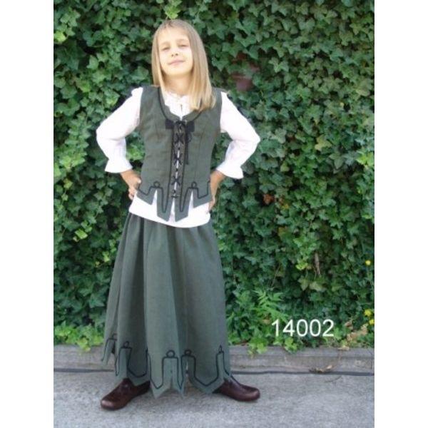 spódnica dziewczyny z kartelami