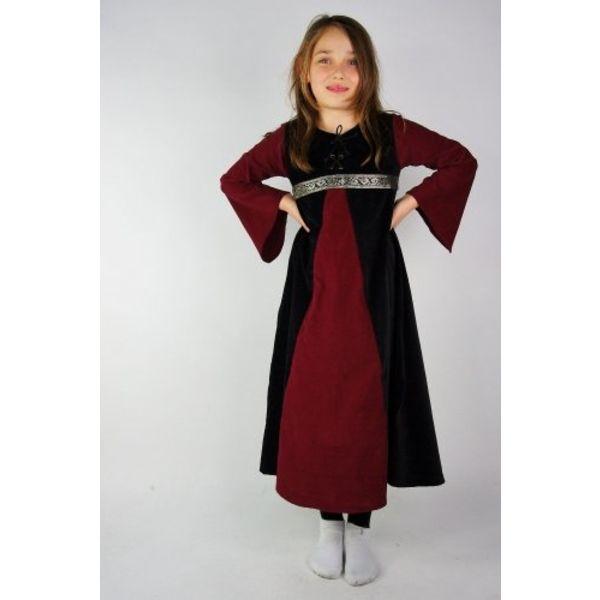 Velvet dziewczynki sukienka Ariane, czarno-czerwony