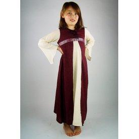 Pige kjole Ariane -, hvid-rød