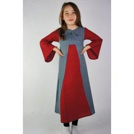 Vestido de niña de dos colores