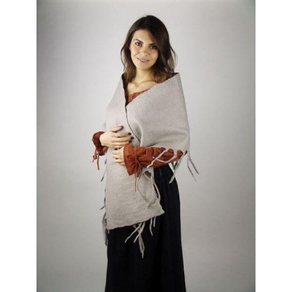 17th century woollen shawl