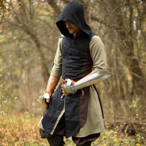 Abrigo sin mangas Assassins Creed, marrón-negro