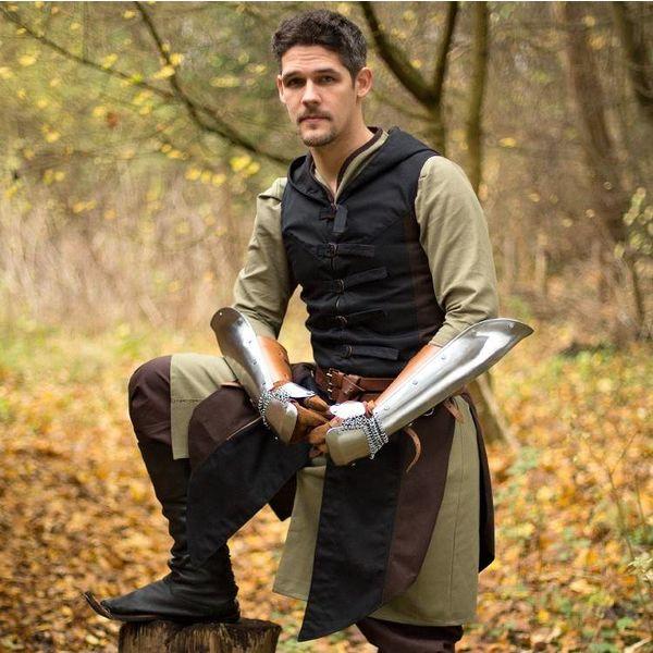 Ærmeløs frakke Assassins Creed, brun-sort