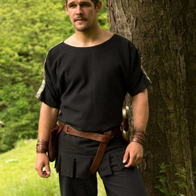 Roman tunic with boat neck black