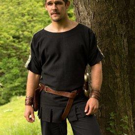 Romersk tunika med båd hals sort