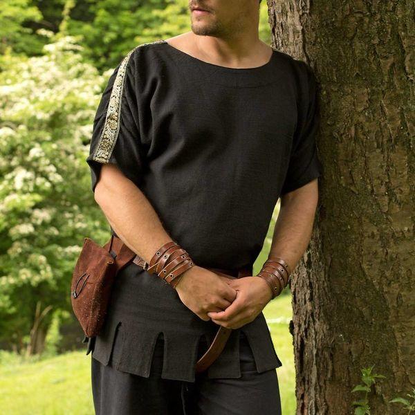 Epic Armoury Romeinse tuniek met boothals zwart