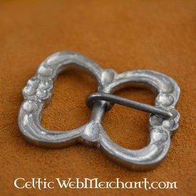 Double pewter belt buckle
