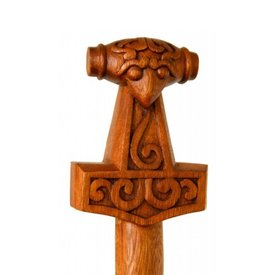 Træ stok med Thor ' s hammer