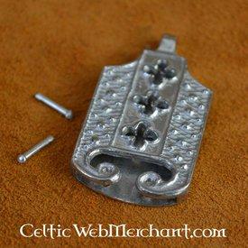 lengüeta del cinturón siglo 15 con motivos cuadrifolios