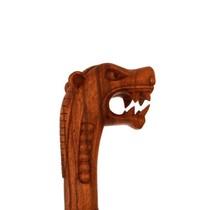 Drewniana laska z Viking smoka
