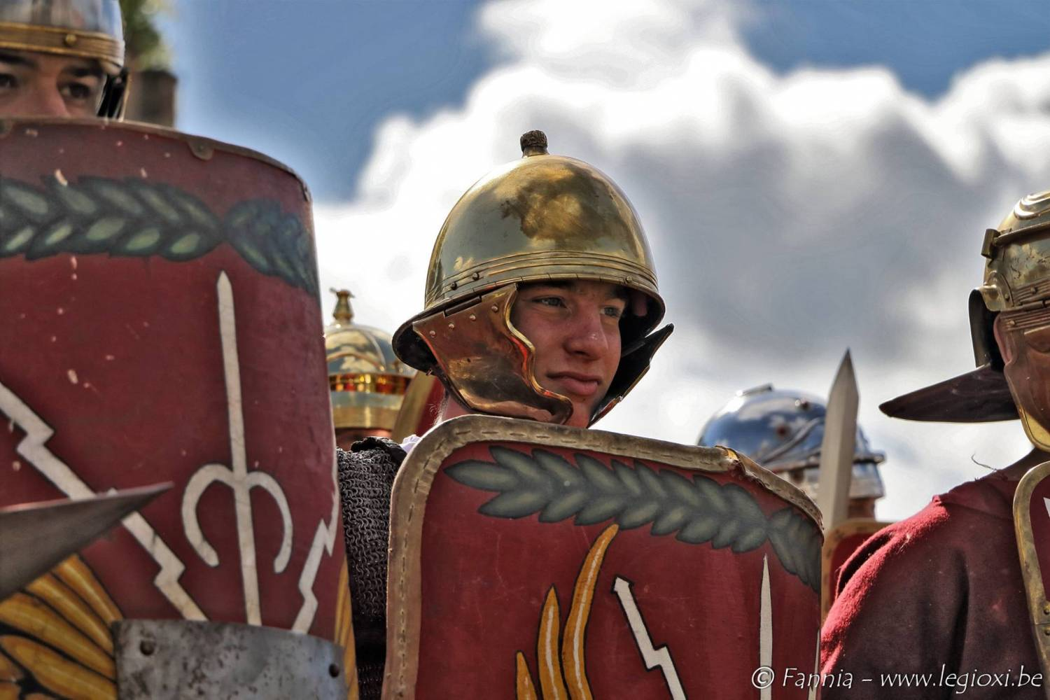 Roman legionairy lining up for the first time
