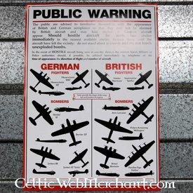 WWII fly anerkendelse plakat